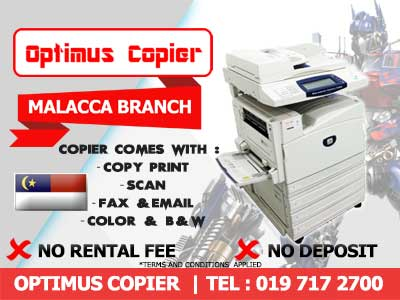 Photostat Machine Rental in Malacca or Melaka